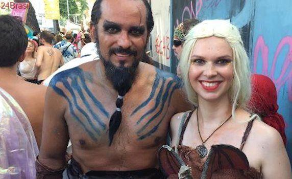 Sangue do meu sangue no bloco: Drogo e Khaleesi estão entre as fantasias mais caprichadas do Brasil