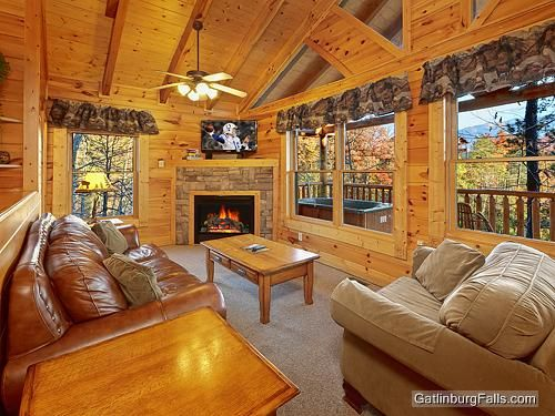 Pets luxury and cabin on pinterest for Www cabins of the smoky mountains com