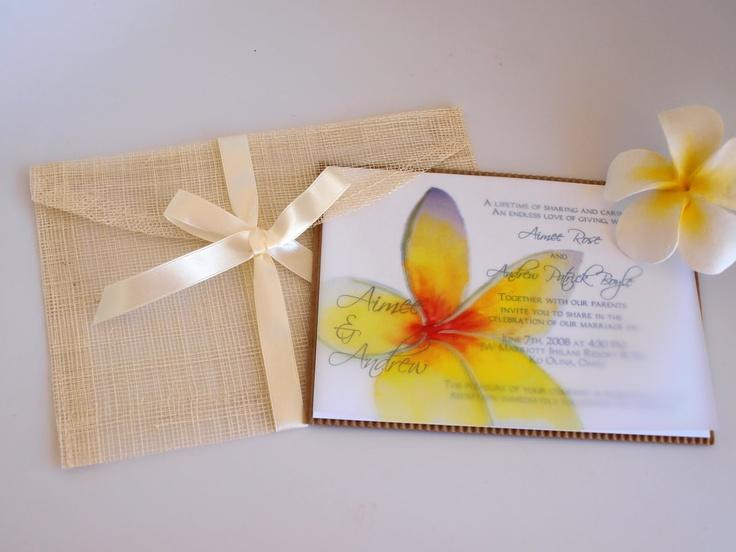 Hawaiian Wedding Invitations | Hawaiian Wedding Invitations