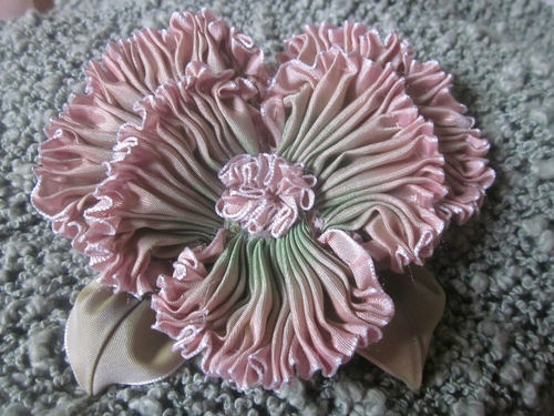 French Ombre Vintage Style Millinery Ribbon Pansy Flower Pin | eBay