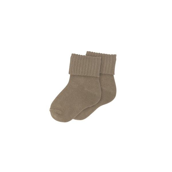 Ribbed Socks Taupe