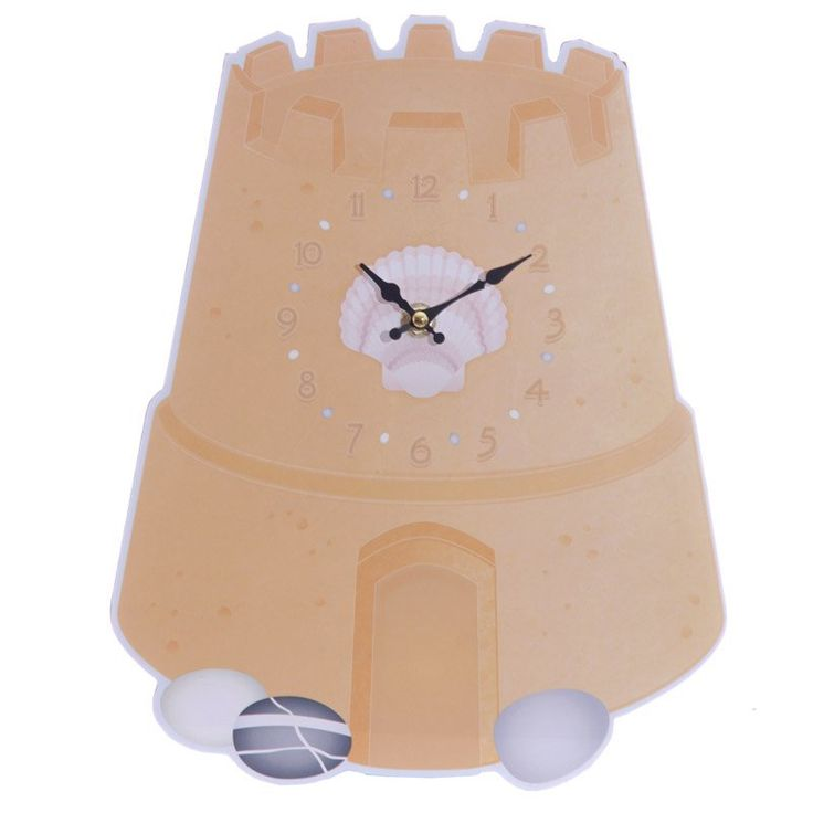 Fun Seaside Sandcastle Shaped Wall Clock