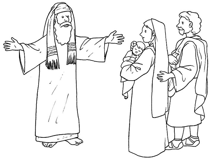 simeon and anna coloring pages - photo#18