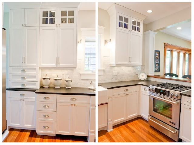 Kitchen Remodel: Love The Mixture Of Different Types Of Hardware: Cup Pulls  + Knobs