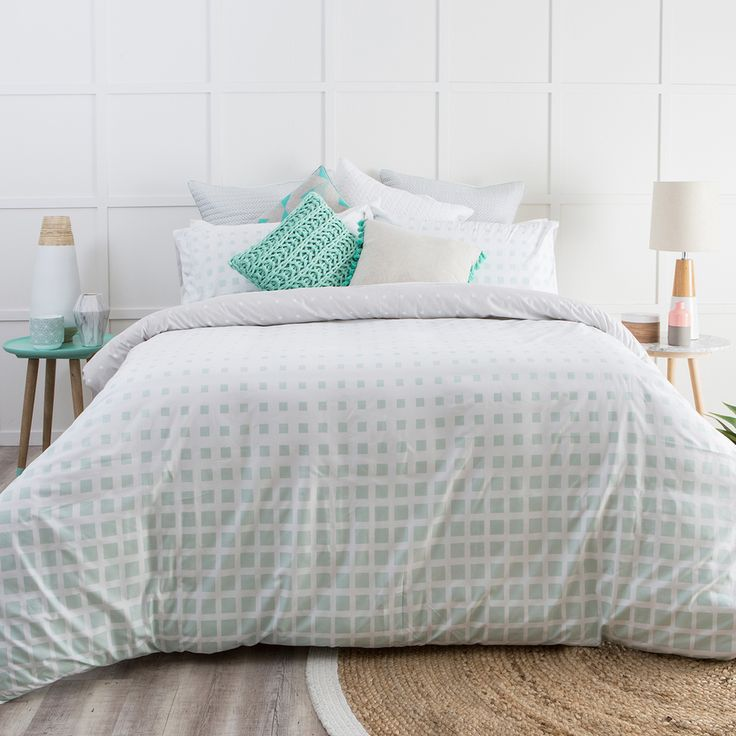 Matrix Light Blue Quilt Cover Set - www.pillowtalk.com.au