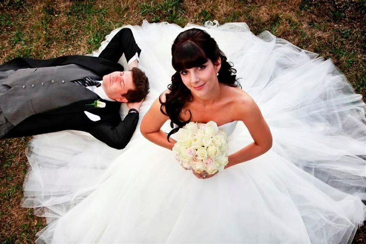 Me, the bride in my ten layer tulle custom made princess dress. It was inspired by the Vera Wang dress Kate Hudson wore in the movie Bride wars.