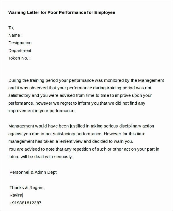 Sample Warning Letter For Poor Performance from i.pinimg.com