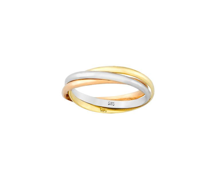 gold ring in 14k with rose, yellow & white gold!