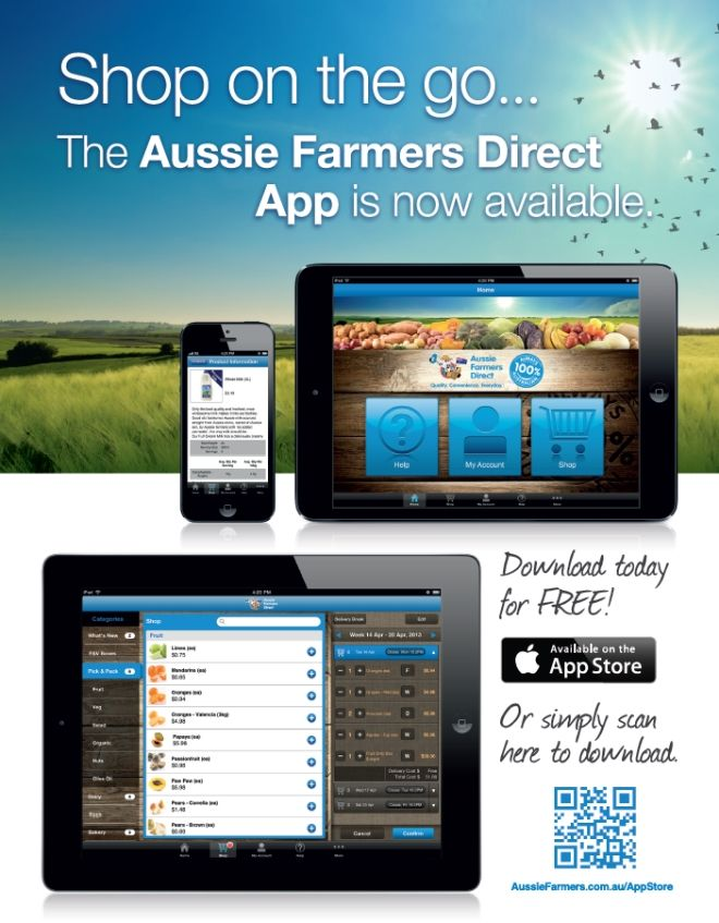 We know life is hectic, and we're here to help. Download the Aussie Farmers Direct iPhone/iPad App to browse, shop and order healthy Australian food on the go – anywhere, anytime. #FoodShopping #Groceries