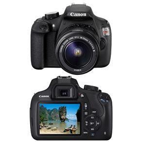 """Câmera Digital Canon EOS Rebel T5 Preta – 18MP, LCD 3.0"""", Processador DIG!C 4…"""