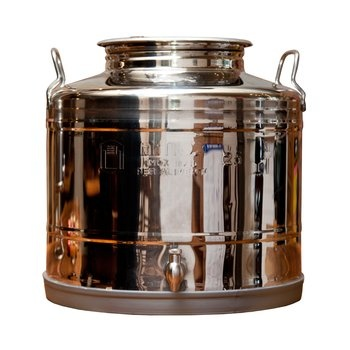 Large Italian Fusti Dispenser. Though Italians use it for storing olive oil, you could use the stainless steel fusti to dispense anything from iced tea to mulled wine, depending on the season and the occasion. Its industrial design is a great accent to your kitchen décor. $140.00