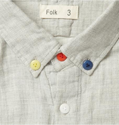 Japanese Textured-Cotton Shirt by Folk