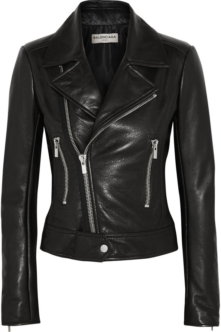 Balenciaga | Leather biker jacket | NET-A-PORTER.COM
