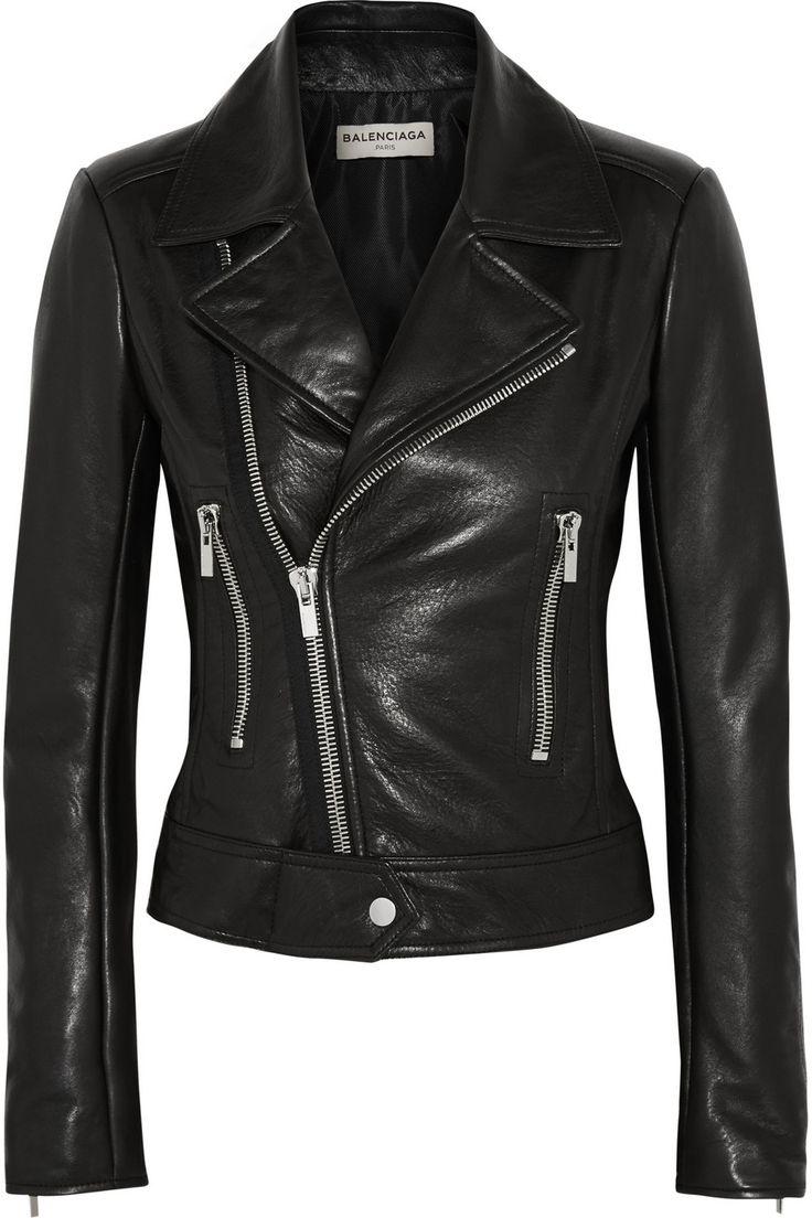 Balenciaga|Leather biker jacket|NET-A-PORTER.COM