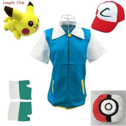 Pokemon #cosplay pocket monster ash ketchum trainer #japan #anime costume jacket,  View more on the LINK: http://www.zeppy.io/product/gb/2/371682075181/