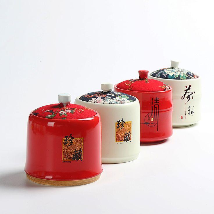 Чай банки ручная роспись чайники творческий керамическая крышка ткани чай банки запечатаны резервуар резервуар для хранения производител... | 32814633256_he