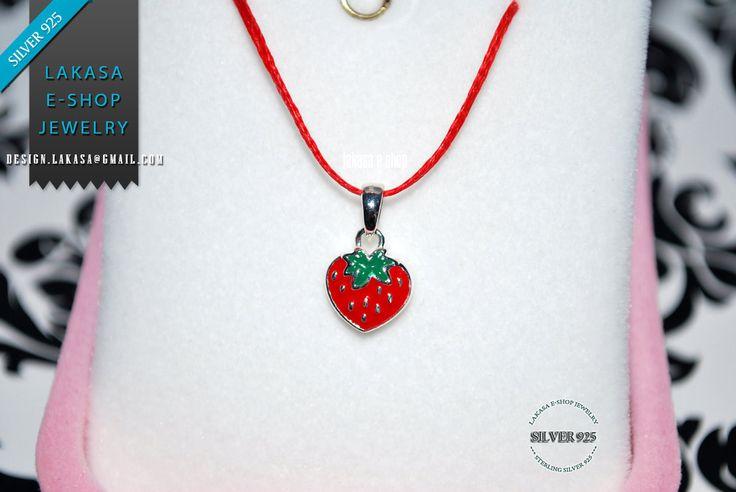 Juicy Strawberry Red Enamel Jewelry Necklace Sterling Silver Girl School Kids Collection Moda Summer Spring Fun Color Fruit Cool Gift idea #strawberry earrings #jewelry #enamel #red #joyas #kids #collection #children #school #moda #silver #jewellery #bestideasgifts #birthdaygifts #birthday #παιδι #κοριτσι #παιδικο #κοσμημα #setkids #φραουλα #φρουτα #σμαλτο #κοκκινο #πρασινο #φραουλιτσα
