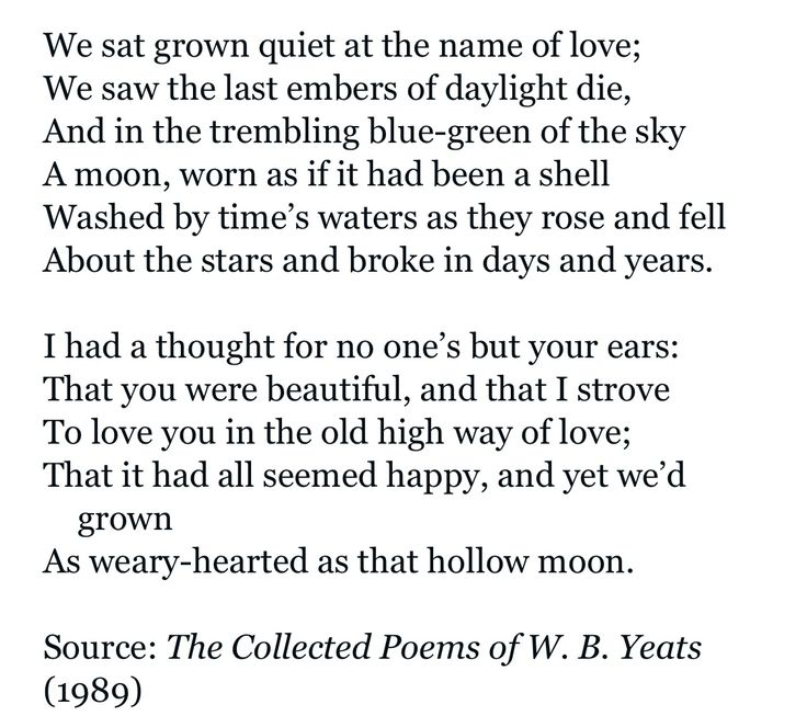 yeats s versification in adam s curse and Thesis in adam's curse, william butler yeats uses the motif of beauty to convey the speaker's pain of his unrequited affection and portray the end of.