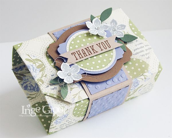 Stampin' Cards And Memories: Origami doosje zonder lijm