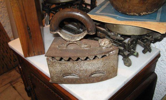 antique iron on Paros