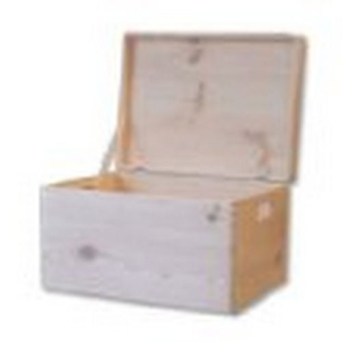 Large-Unpainted-Wooden-Chest-Box-Trunk-Storage-Unfinished-Toy-Box-46x-32x-24cm
