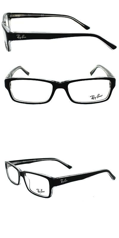 Eyeglass Frames: Ray-Ban Rx5169 2034 54-16-140 Black And Transparent Eyeglasses -> BUY IT NOW ONLY: $59.95 on eBay!