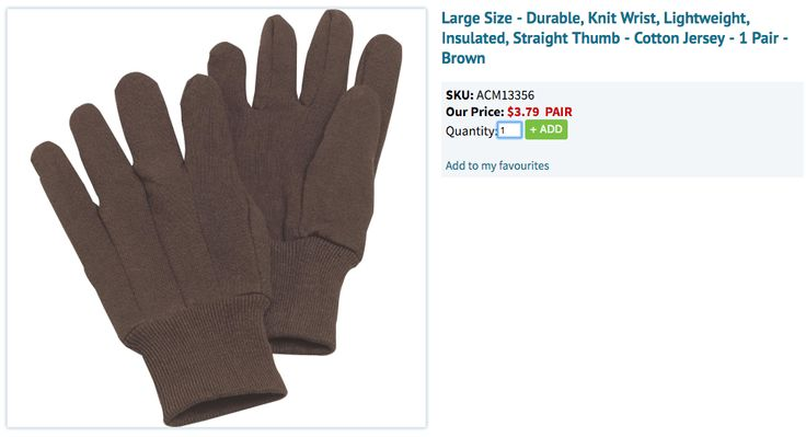 Cotton Jersey Gardening Gloves