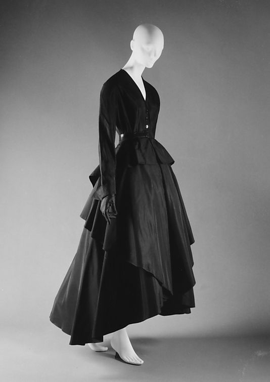 """""""Poulette""""  House of Dior (French, founded 1947)  Designer: Christian Dior (French, Granville 1905–1957 Montecatini) Date: spring/summer 1948 Culture: French"""