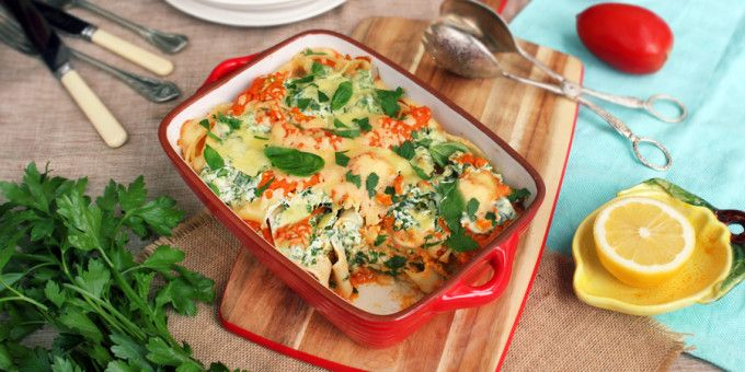 Quit Sugar recipe: Spinach   Ricotta Pappardelle with Vegetable Sauce by Elsie