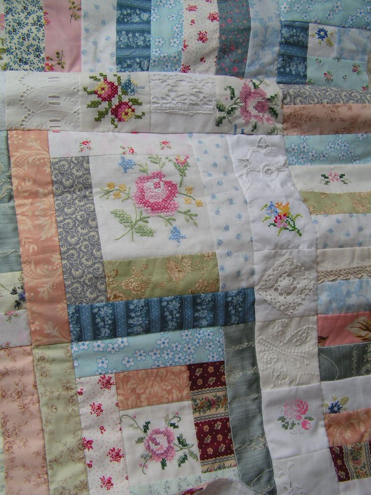 vintage linen quilt -- definitely want to make one of these!!