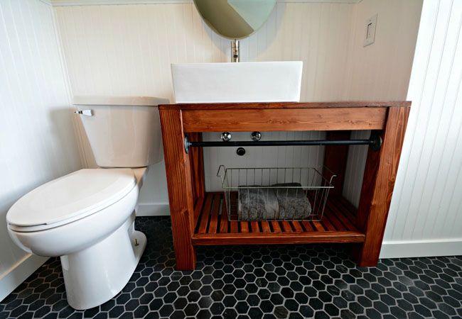 Modern Farmhouse Vanity | Bathroom vanities, Farmhouse