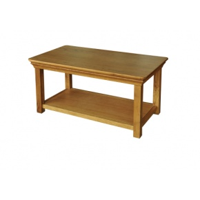 Solid Oak - FRCT4 Lyon Oak 915mm Coffee Table  www.easyfurn.co.uk