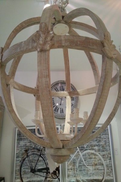 Wood Orb Chandelier Kitchen Pinterest Chandeliers