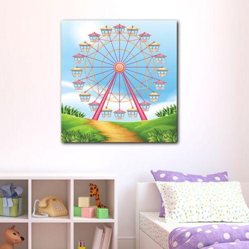 Παιδικός πίνακας σε καμβά Luna Park