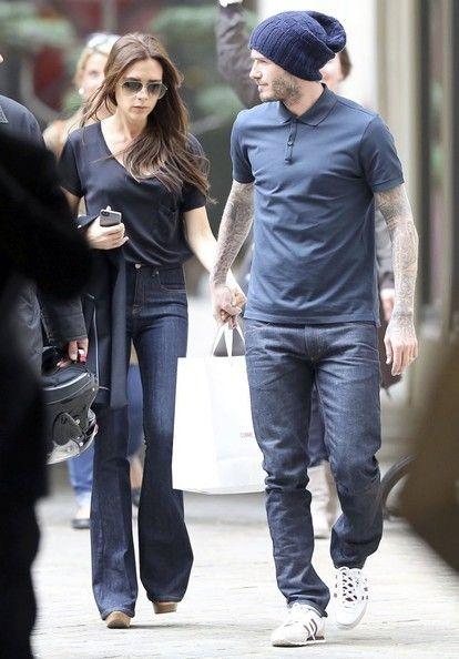 David Beckham Photos - David and Victoria Beckham Shop in Paris - Zimbio