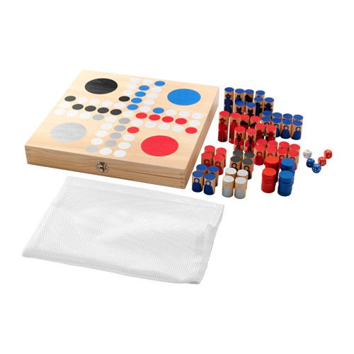 IKEA - LATTJO, Board game, Backgammon, chess, English checkers and Ludo are fun and educational classic games for the whole family to play together.Games help develop children's ability to think logically, win, lose and wait for their turn.Encourages your child to improve by practicing.