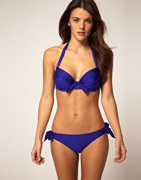 Pour Moi Azure Bikini (with real cup sizes, up to F) on ASOS