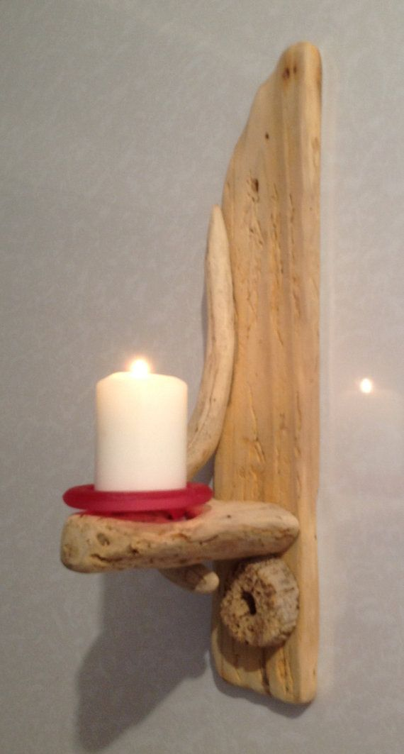Driftwood sconce candle holder art crafts for Arts and crafts candle sconces