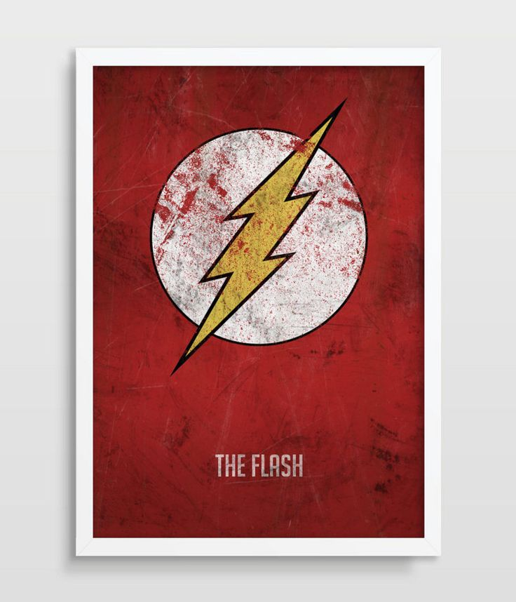 The Flash Poster Superheroes Superhero by TheWatermelonFactory