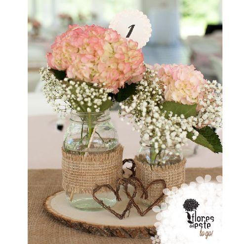 Decora tu boda con hermosos centros de mesa hortensias - Decoracion con hortensias ...