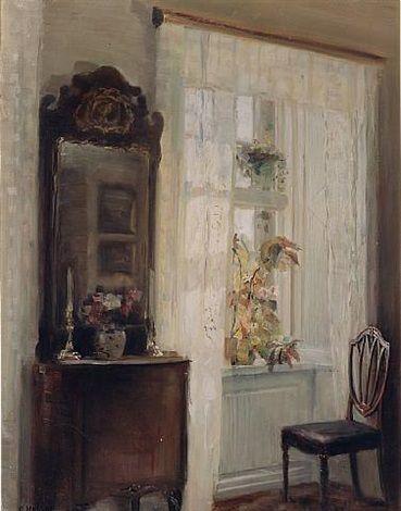 Carl Vilhelm Holsøe - Sunlit Interior