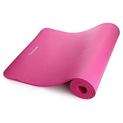 Readaeer® Fitnessmatte Yogini für Gymnastik Yoga Pilates 183 x 61 x 1,0 cm mit Tasche und Tragegurt(Pink)