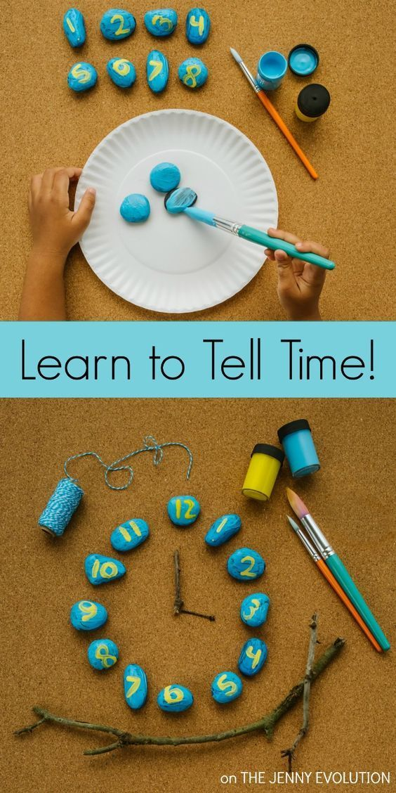 Learning to Tell Time. Teach your kids to tell time with a Rock Clock Mystery - lots of fun and problem solving practice!