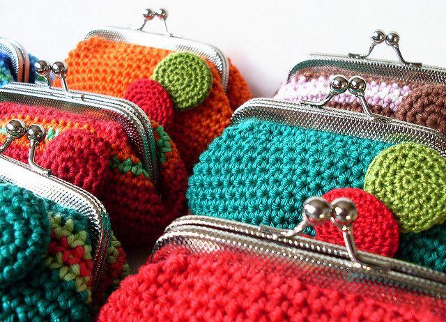 Crochet coin purse monedero
