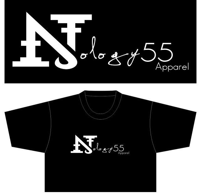 Nology55 logo black tee / ultra soft