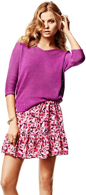 Marie knitted sweater 14.95€ and Lollo skirt 19.95€