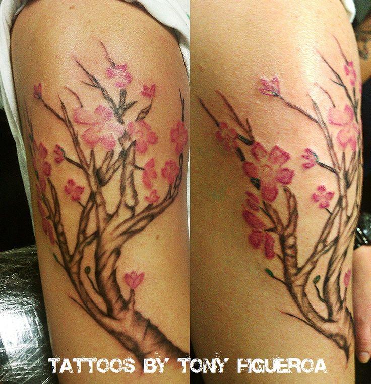 Tattoo Quotes Cherry Blossom: Cherry Blossom Tree Tattoo By Guttaboi On DeviantArt