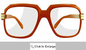 Telly Big Square Clear Lens Glasses - 364 Orange
