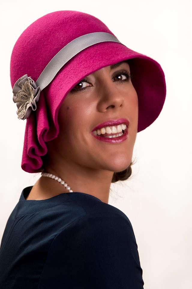 Beautiful pink cloche from Highbury by Amanda Byrne, The Modern Collection....  Model - Monica Manzzi Barlocco Photographer - Peter Keane MUA - Christine Penston