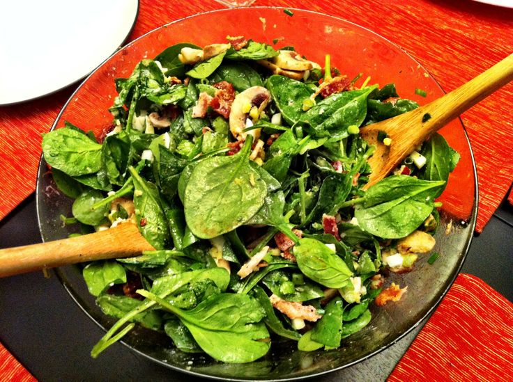 salads recipes with pictures | This is my favourite spinach salad.